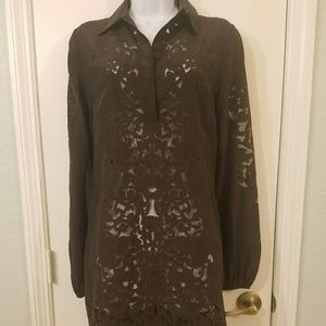 Elie Tahari dress or long blouse see through lace